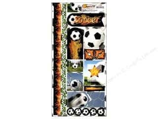 Scrappin Sports Sticker Cardstock Soccer Balls