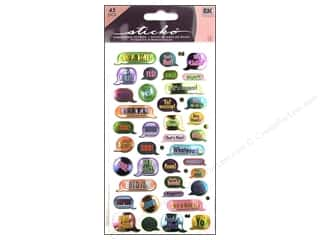 Captions: EK Sticko Stickers Metallic Teen Captions