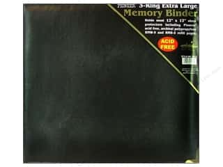 Pioneer Scrapbook 3 Ring Binder 12x12 Black Oxford