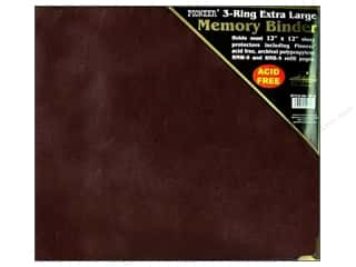 "Metal Burgundy: Pioneer Scrapbook 3 Ring Binder 12""x 12"" Burgundy Oxford"