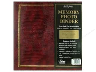 "Pioneer Scrapbook 3 Ring Binder 8.5""x11"" Burgundy"