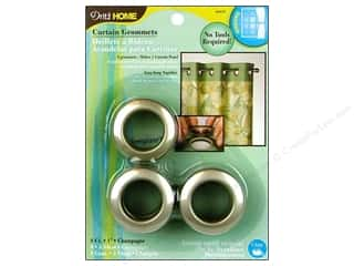 metallic curtain grommets: Dritz Home Curtain Grommets 1 in. Round Champagne 8pc