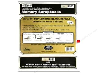 Pioneer Scrapbook Refill Page 8.5&quot;x11&quot; Black