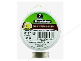"7"" wire: Beadalon Bead Wire 7 Strand .012 in. Bright 30 ft."