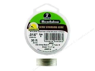 "7"" wire: Beadalon Bead Wire 7 Strand .015 in. Bright 30 ft."