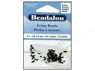 Beadalon Crimp Bead 2.0mm Black 1.5gm