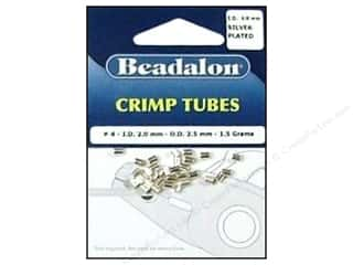 Beads $4 - $5: Beadalon Crimp Tubes 2.5 mm Silver .05 oz.