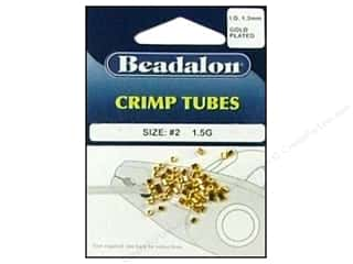 Beadalon Crimp Tube 1.8mm Gold 1.5gm