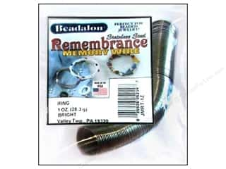 silver jewelry wire: Beadalon Remembrance Memory Wire Ring 1 oz. Bright