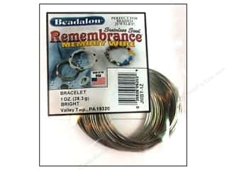 silver Wire: Beadalon Memory Wire Bracelet Bright 1 oz.