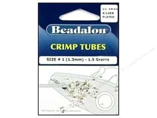 Tools Findings: Beadalon Crimp Tubes 1.3 mm Silver Plated .05 oz.