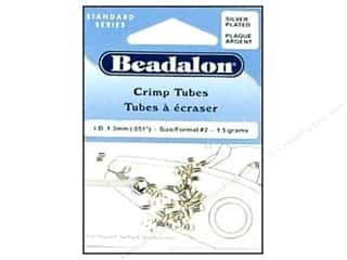 Beadalon Crimp Tubes 1.8mm Silver .05oz.