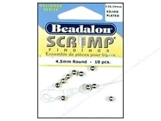 Beadalon Scrimp Round 4.5mm Silver Plated 10 pc