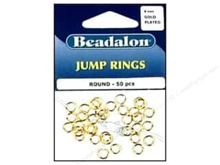 Beadalon Jump Rings/Spring Rings: Beadalon Jump Ring 6mm Gold 50 pc