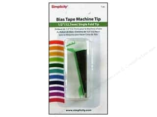 Simplicity Trim Clearance Books: Simplicity Bias Tape Maker Single Fold Tip 1/2""