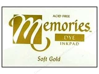 Dyes $1 - $4: Stewart Superior Memories Dye Inkpad Large Soft Gold