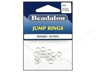 Clearance Blumenthal Favorite Findings: Beadalon Jump Rings 6 mm Silver 50 pc.