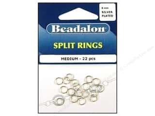 Beadalon Split Ring 6mm Medium Silver 22 pc