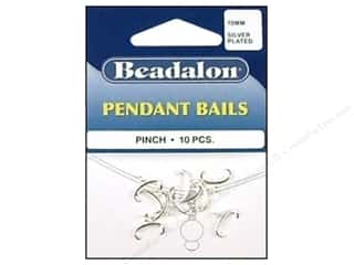 Beadalon Bails Pendant Pinch 10mm Slv Plated 10pc