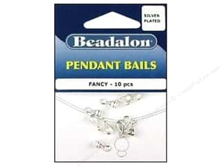 Beadalon Bails Pendant Fancy Silver Plated 10pc