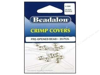 Beadalon Crimp Covers 4mm Slvr 20 pc