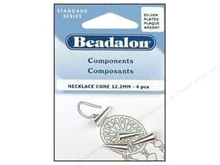 Clearance Blumenthal Favorite Findings: Beadalon Necklace Cone 12.2 mm Silver 4 pc.