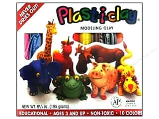 Clay & Modeling: AMACO Plast-i-clay Modeling Clay Set 10 pc.