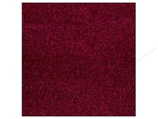 Best Creation 12 x 12 in. Cardstock Glitter Wine Red (15 sheets)