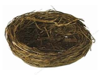 "Decorative Floral Critters & Accessories Christmas: Midwest Design Bird Nest 3.25"" Wild Grass 1pc"