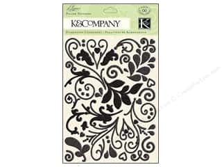 K&Co Sticker Puffy Glitter Elegance Black
