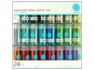 Martha Stewart Crafts: Martha Stewart Glitter .37oz Multi Pack 24pc