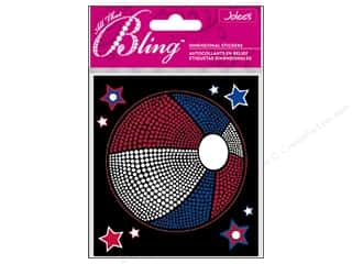 3-D Stickers / Fuzzy Stickers / Foam Stickers: EK Jolee's 3D Sticker Bling Patriotic Ball