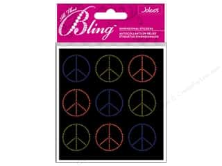 Clearance paper dimensions: Jolee's Bling Stickers Peace Seals