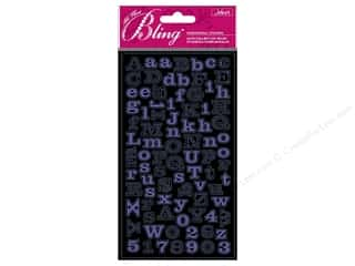 Embossing Aids ABC & 123: Jolee's Bling Stickers Mini Foil Alphabet Purple