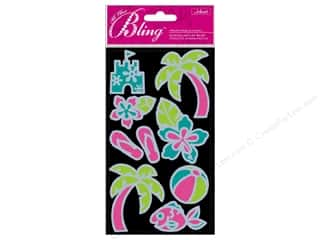 Beach & Nautical Clearance: Jolee's Bling Stickers Outline Beach