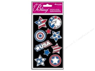 stickers  -3D -cardstock -fabric: EK Jolee's 3D Sticker Bling Outline USA