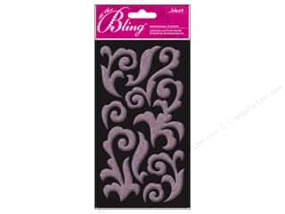 3D Stickers: EK Jolee&#39;s 3D Stickers Bling Puffy Flourish LtPnk