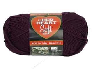 Worsted yarn: Red Heart Soft Yarn Grape 5 oz.