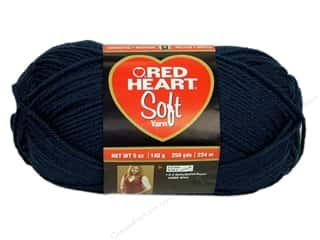 Worsted yarn: Red Heart Soft Yarn Navy 5 oz.