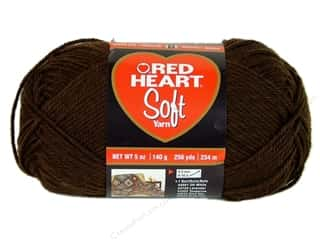 Crochet Hooks Black: Red Heart Soft Yarn #9344 Chocolate 5 oz.