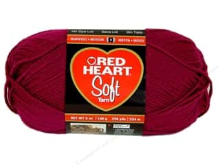 Worsted yarn: Red Heart Soft Yarn Berry 5 oz.