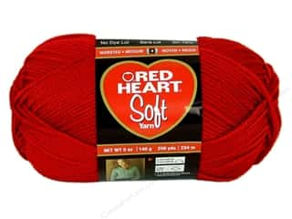 Blend Yarn & Needlework: Red Heart Soft Yarn #9925 Really Red 5 oz.