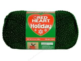 Hearts Christmas: Red Heart Holiday Yarn #6560 Hunter/Gold 3.5 oz