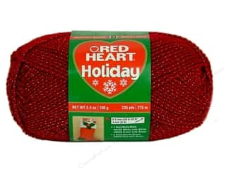 Hearts Christmas: Red Heart Holiday Yarn #9560 Wine/Gold 3.5 oz