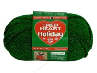Hearts Christmas: Red Heart Holiday Yarn #6060 Green/Green 3.5 oz
