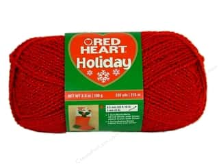 Bumpy Yarn: Red Heart Holiday Yarn #9090 Red/Red 3.5 oz