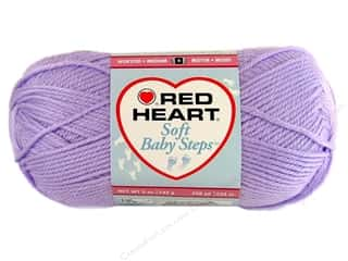 Baby Yarn & Needlework: Red Heart Soft Baby Steps Yarn #9590 Lavender 5 oz.