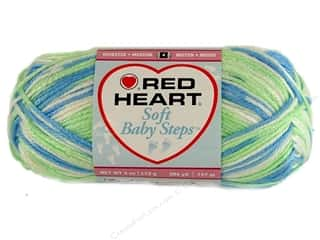 Red Heart Soft Baby Steps Yarn Puppy Print 4 oz.
