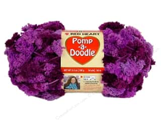 Clearance C&C TLC Essentials Yarn: Red Heart Pomp-a-Doodle Yarn Plush Plum 3.5 oz.