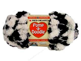 Clearance C&C TLC Essentials Yarn: Red Heart Pomp-a-Doodle Yarn Night & Day 3.5 oz.